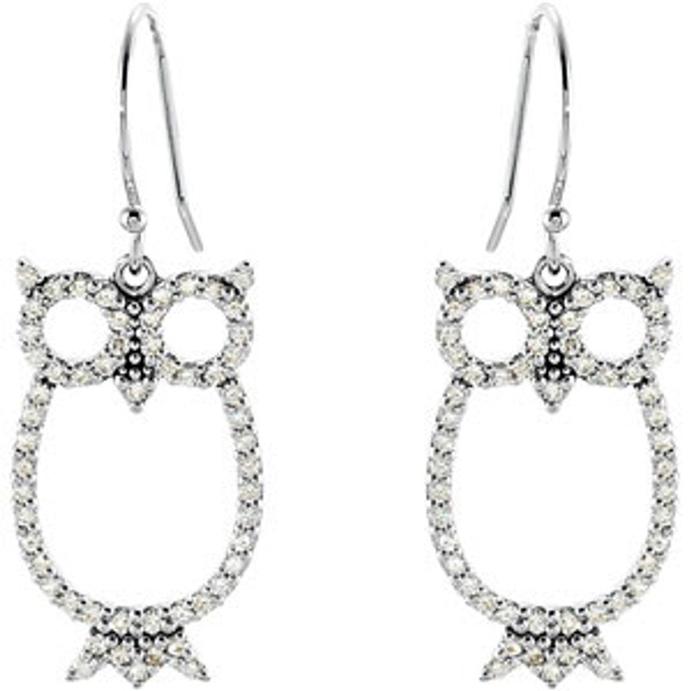 Diamond Owl Earrings (3001734)