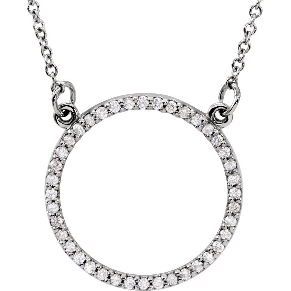 1/8 Ctw Diamond Circle 16 Inch Necklace (8918970)