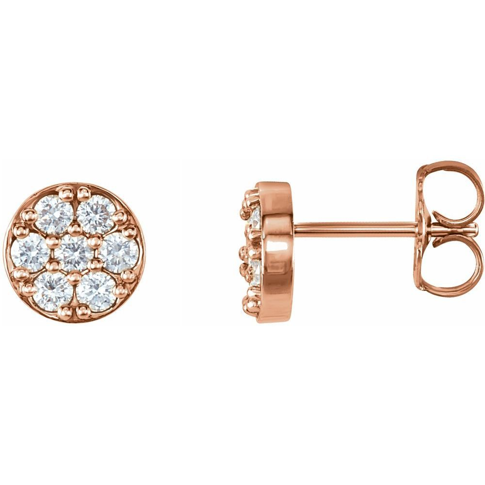 3/8 Ctw Diamond Earrings With Backs (11910070)