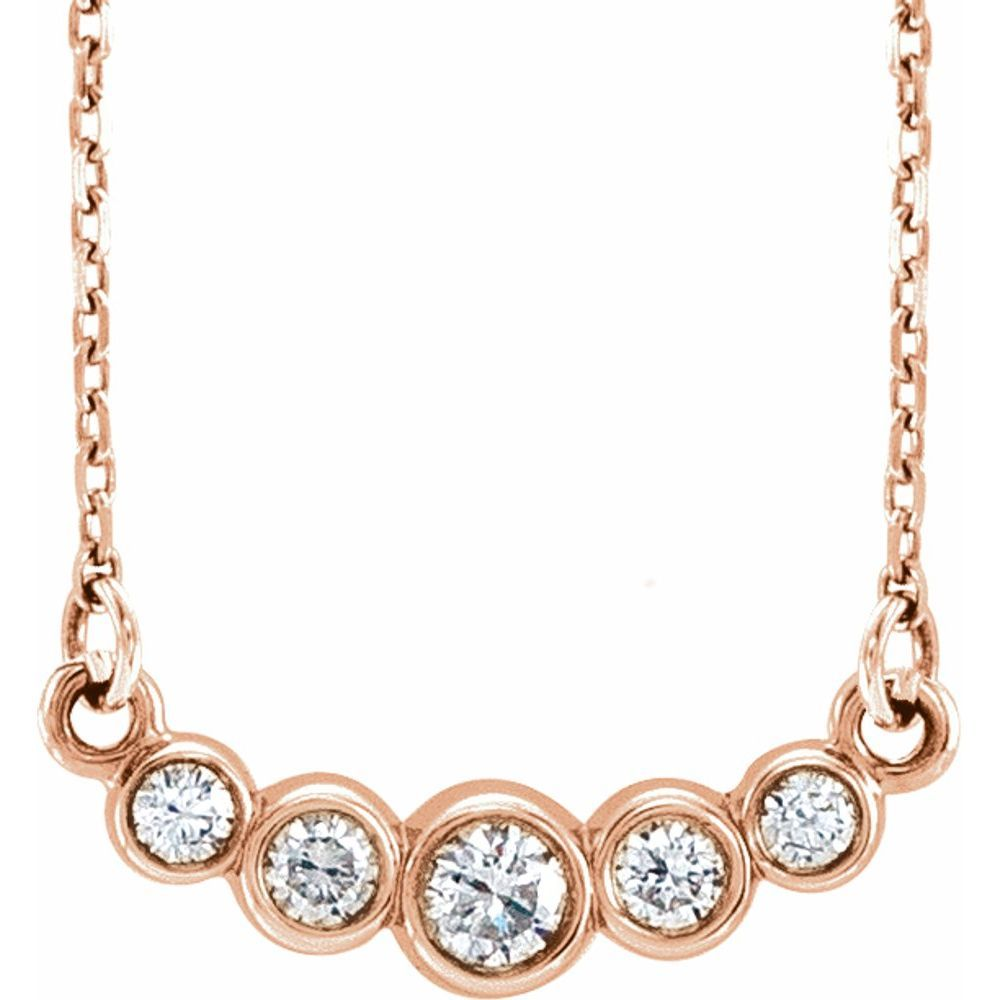 Graduated 1/5 Ctw Diamond 16-18 Inch Necklace (12733068)