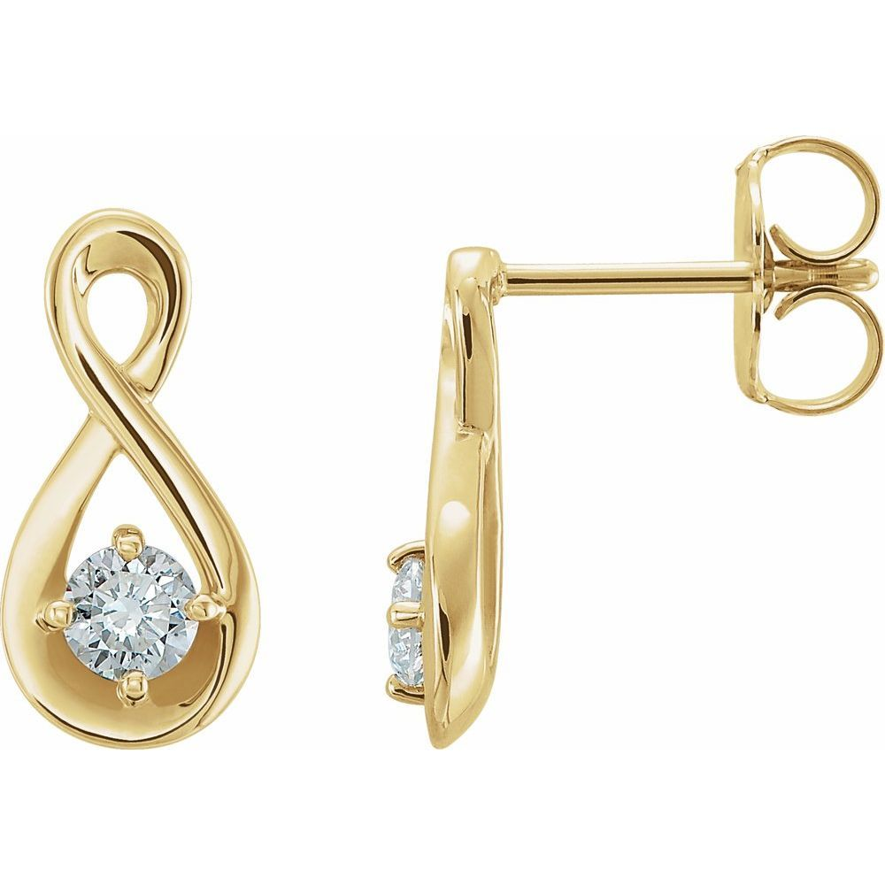 1/5 Ctw Diamond Infinity Style Earrings With Backs (12879365)