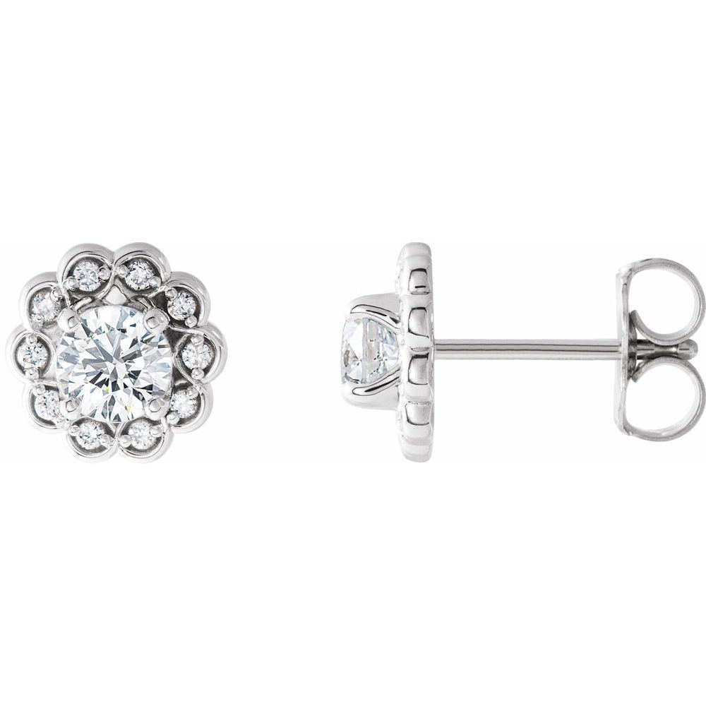 5/8 Ctw Diamond Stud Earrings With Backs (13247083)