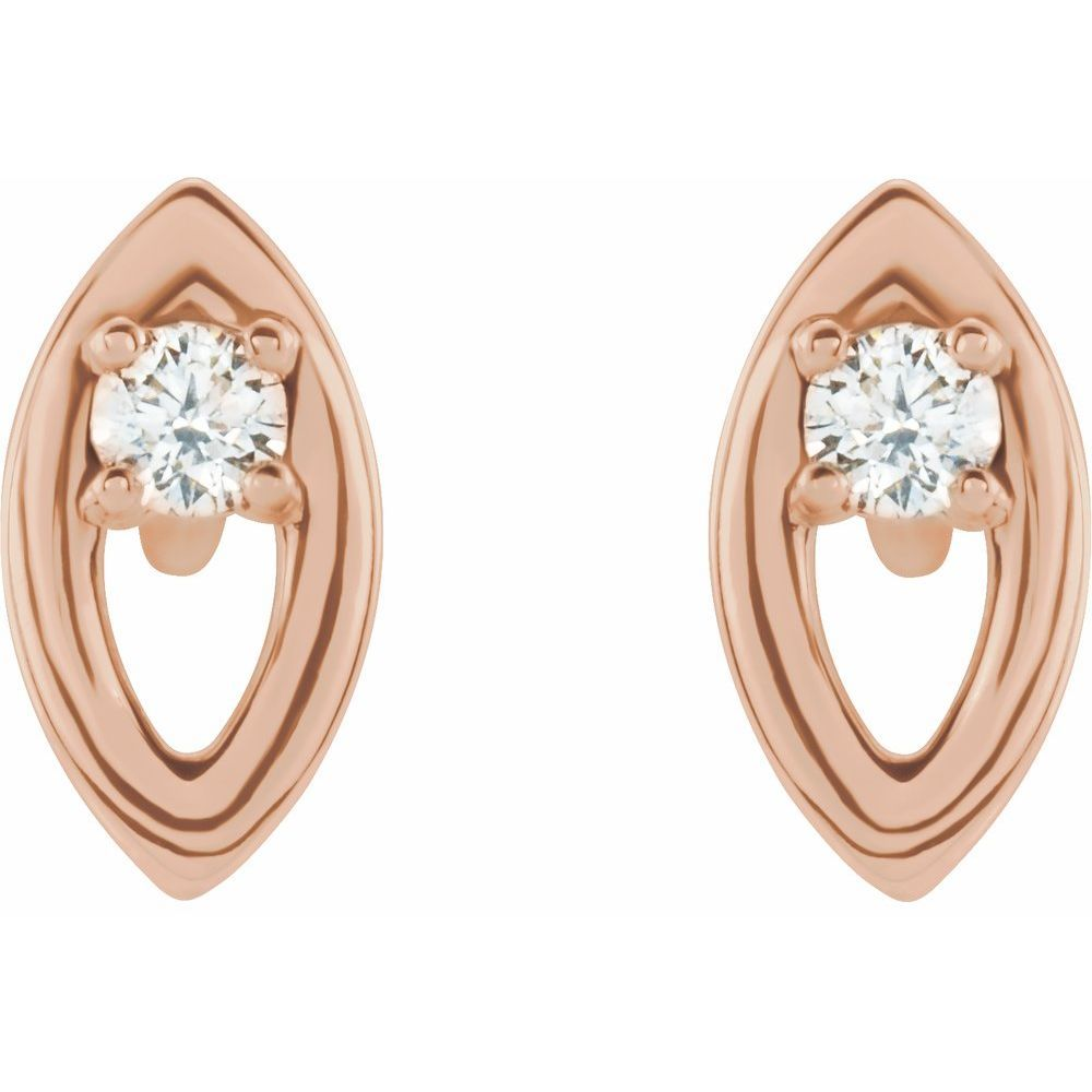 .05 Ctw Diamond Stud Earrings With Backs (13549895)