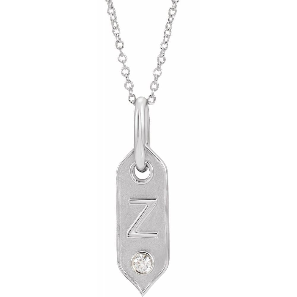 .05 Ct Diamond Initial Necklace (16917202)