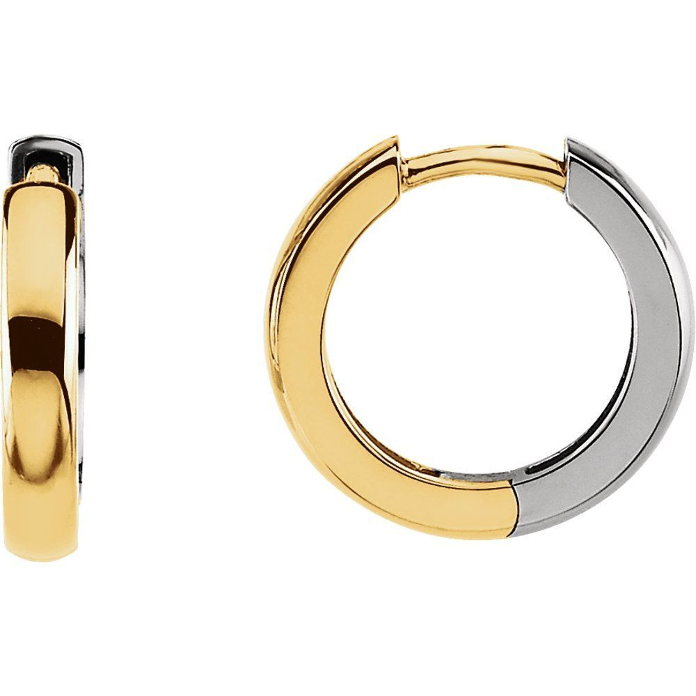 Two Tone Hinged Earring (1727943)