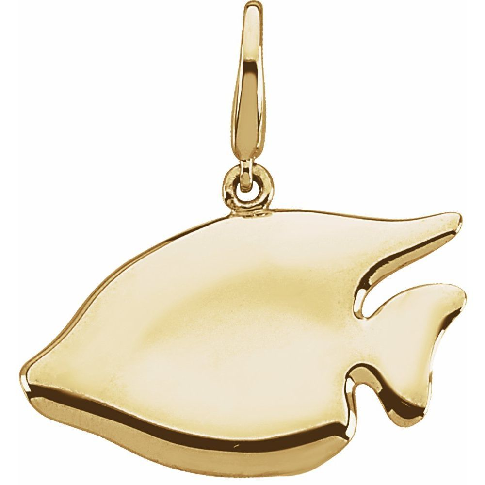 Gold Fashion Sunfish Charm (2626265)