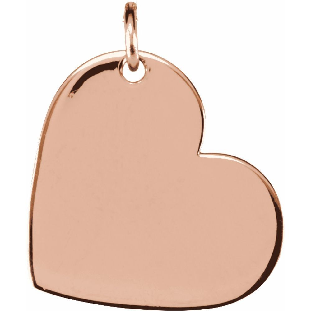 Engravable Heart Shaped Pendant (11611007)