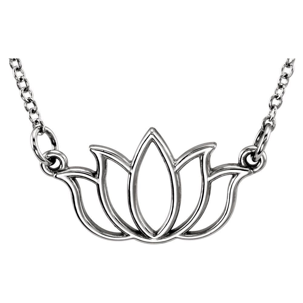Tiny Posh Lotus Necklace (12017762)