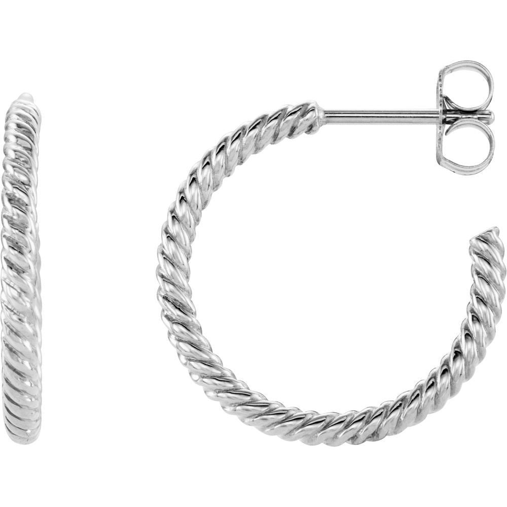 Rope Hoop Earrings (10892422)