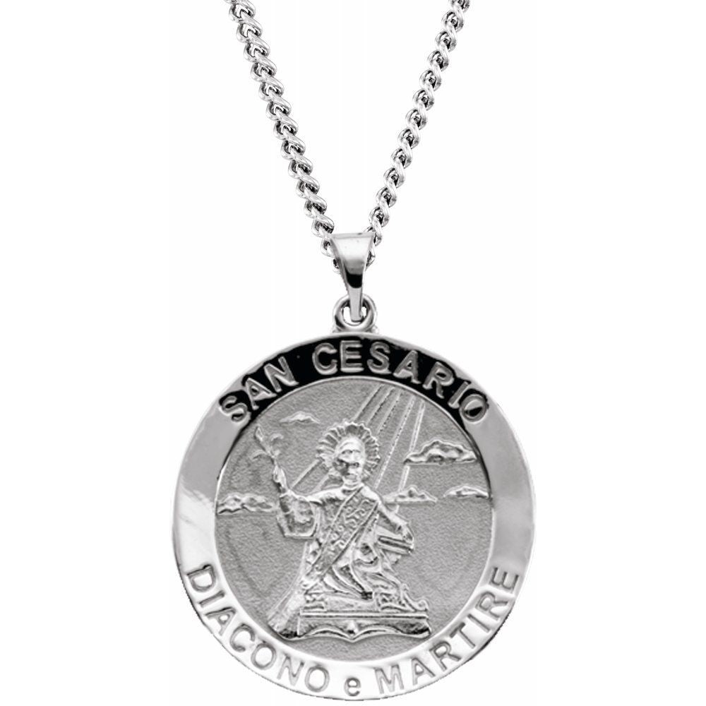 Round San Cesario Medal With 24 Inch Chain (1064851)