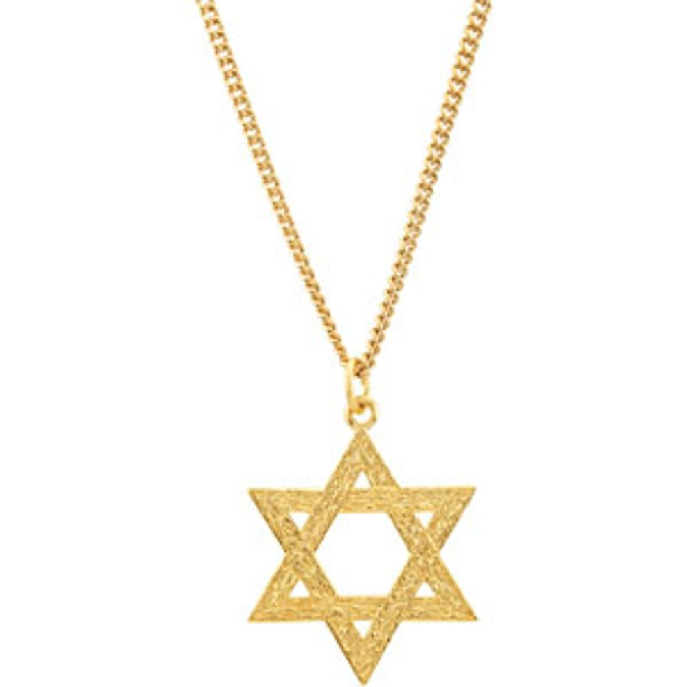 Star Of David Ster W/24K Gp (3064342)
