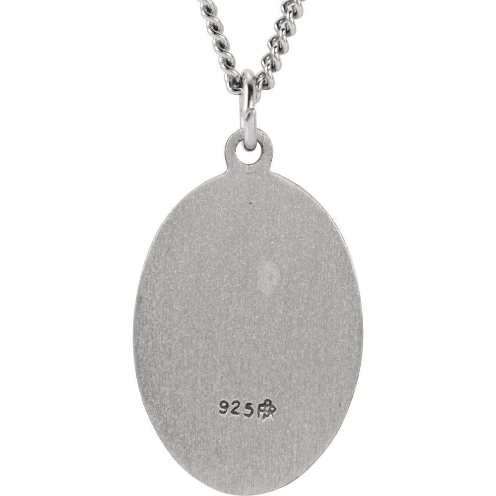 Oval St. Jude Thaddeus Medal With 24 Inch Chain (151344)