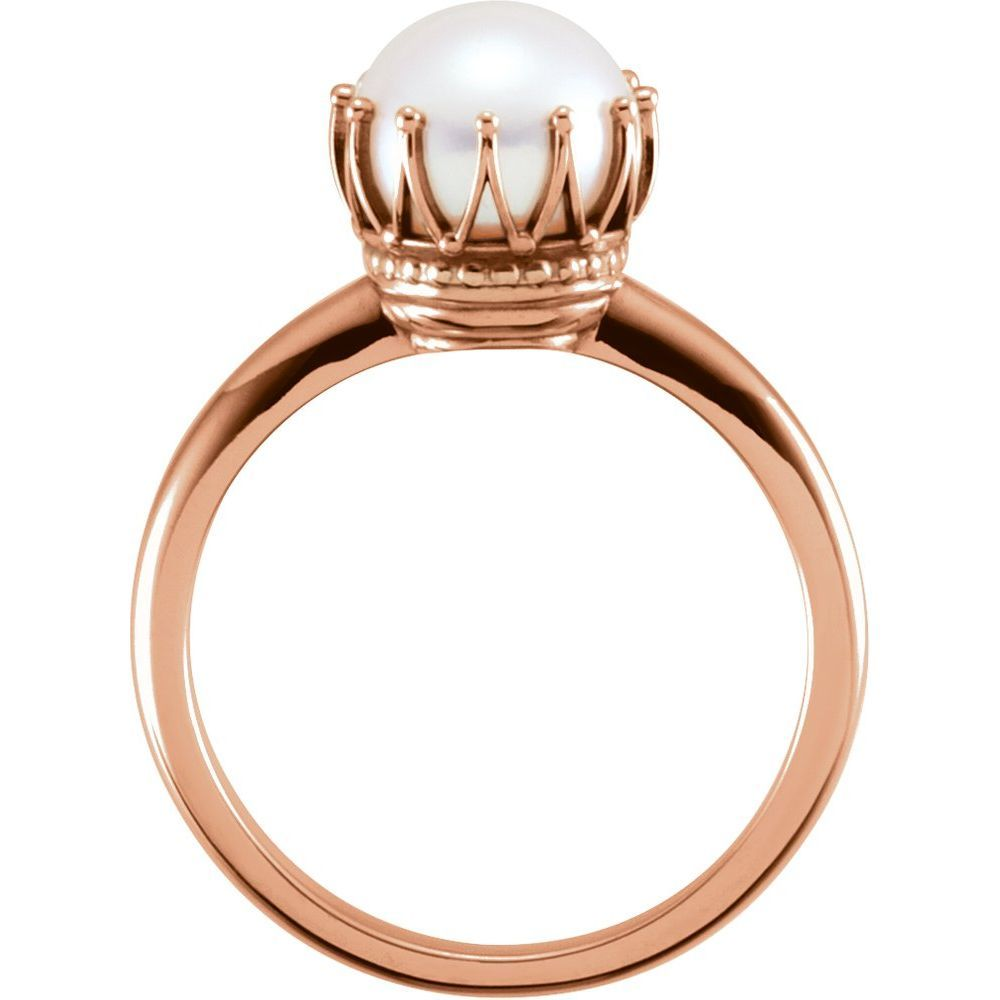 Crown Freshwater Cultured Pearl Ring (13397827)
