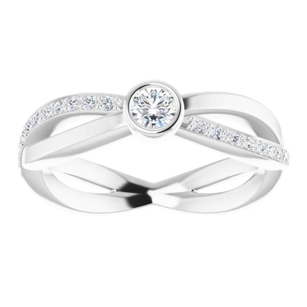 3/8 Ctw Diamond Criss Cross Ring (14445900)