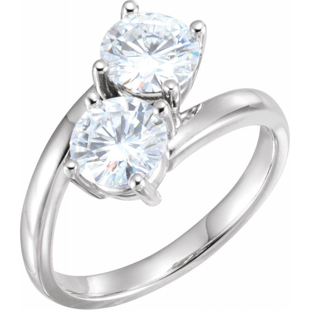 Forever One Moissanite Two Stone Ring (12811143)