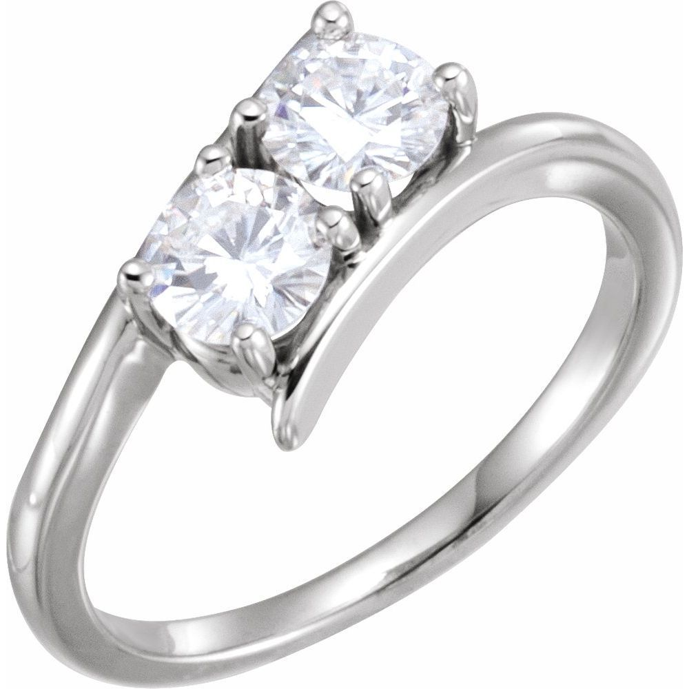 Forever One Colorless Moissanite Two-Stone Ring (12812495)