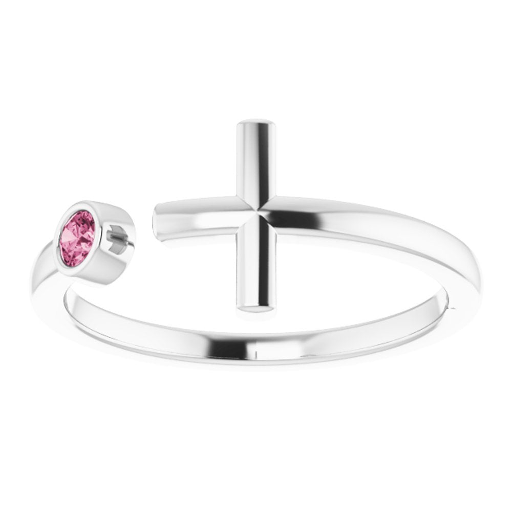 .06 Ctw Diamond Negative Cross Ring (14038166)