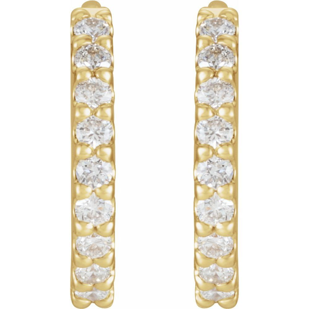 1/4 Ctw Diamond Hoop Earrings (16685702)