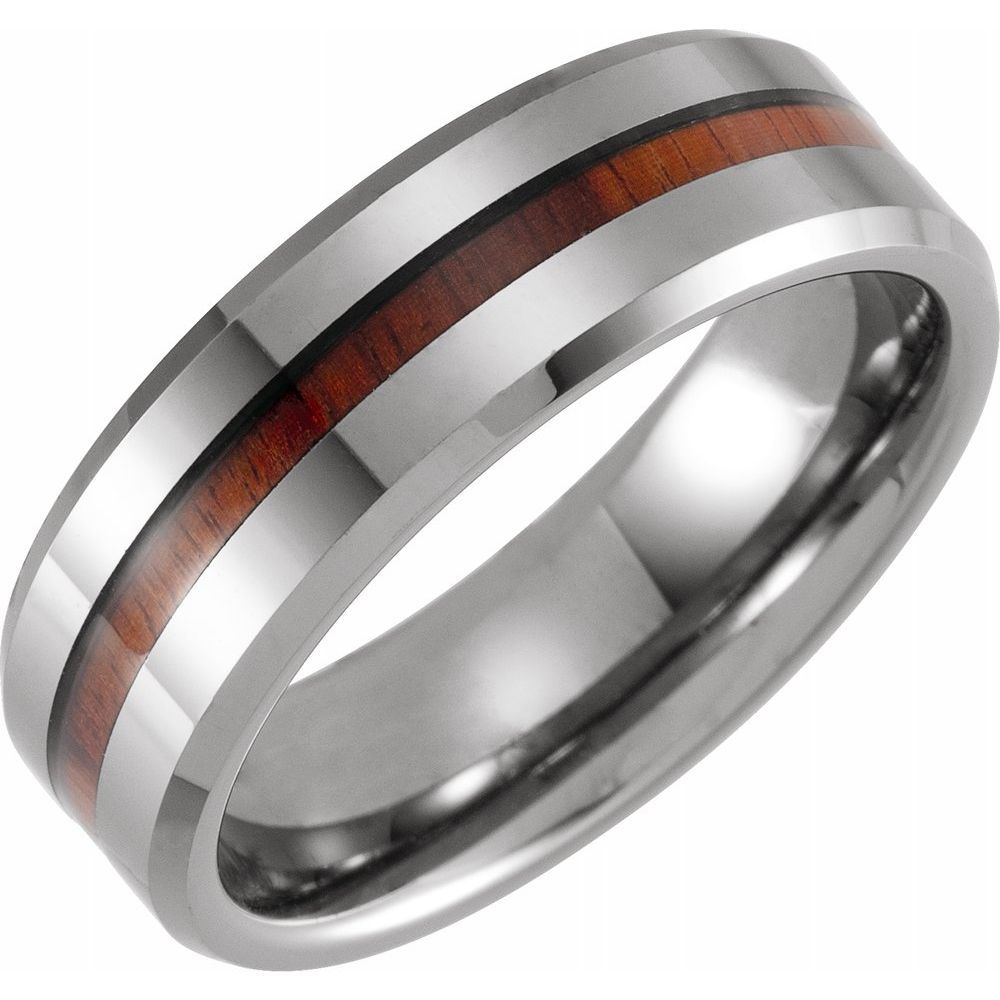 Beveled Edge Band With Acacia Wood Inlay (16670773)