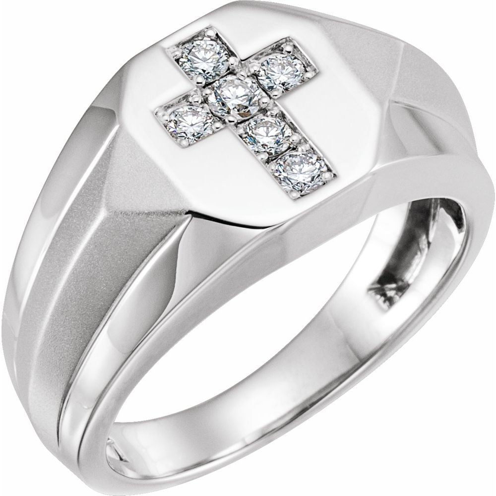 Men's Cross Ring (9854072)