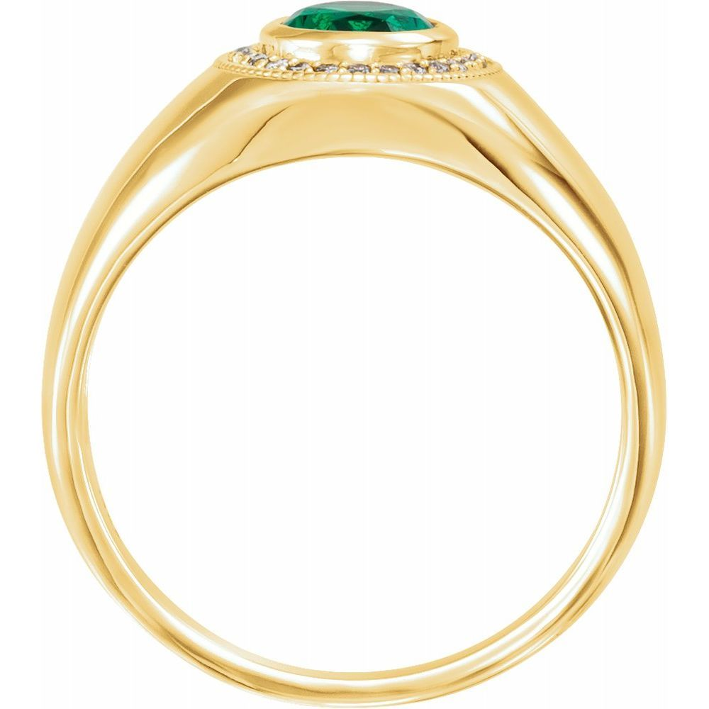 Bezel-Set  Halo-Style Ring (12246274)