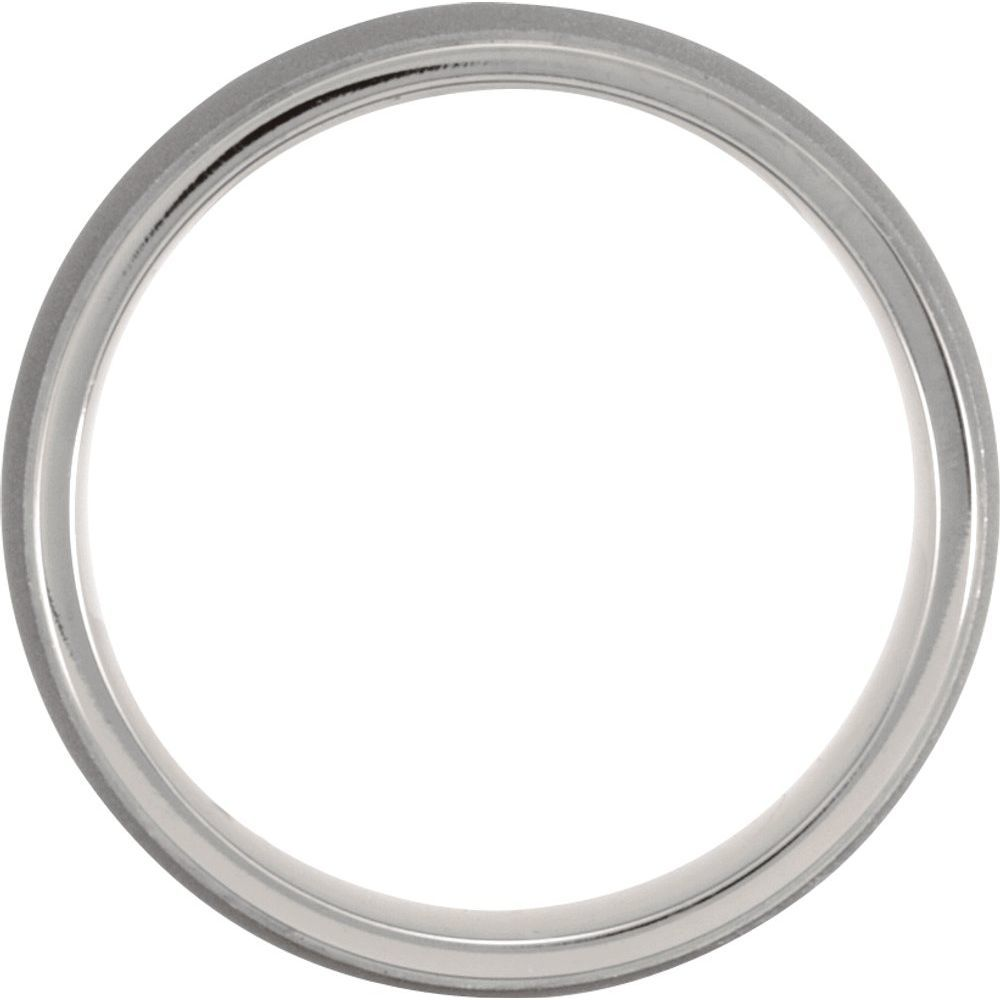 Titanium Domed Ridged Band (2914711)