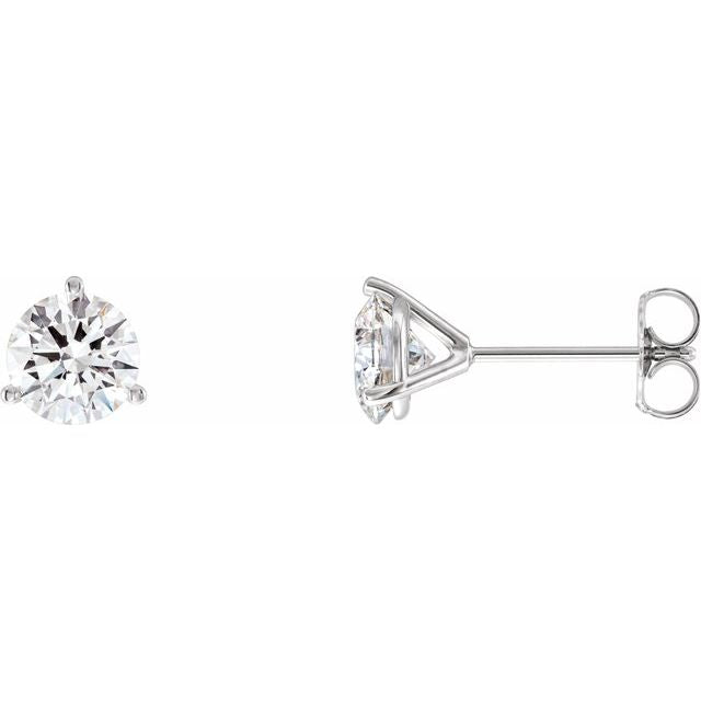 14K White 2 CTW Diamond - Lab-Grown Stud Earrings