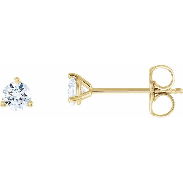 14K Yellow 1/3 CTW Diamond - Lab-Grown Stud Earrings