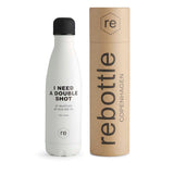 Rebottle, shot statement, white