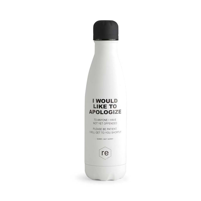 Rebottle, sorry statement, white