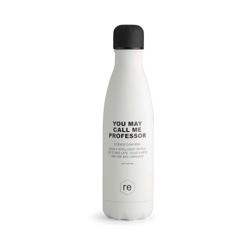 Rebottle, professor statement, white