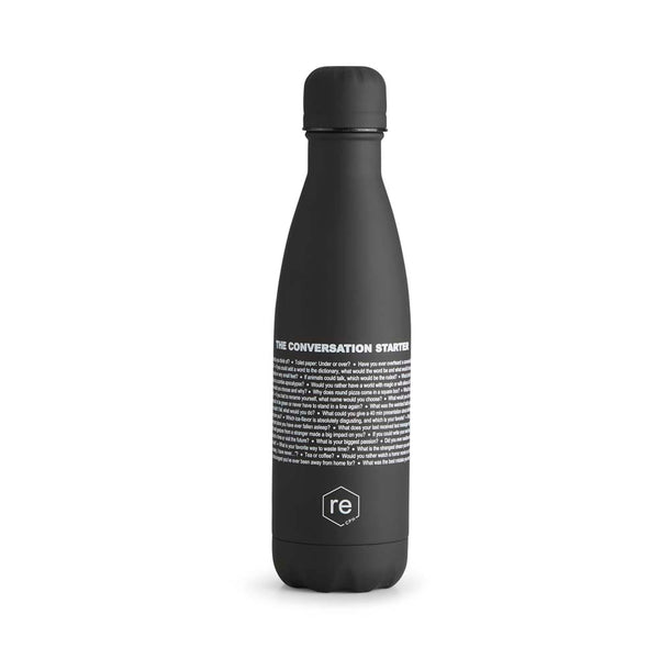 Rebottle, conversation statement, black