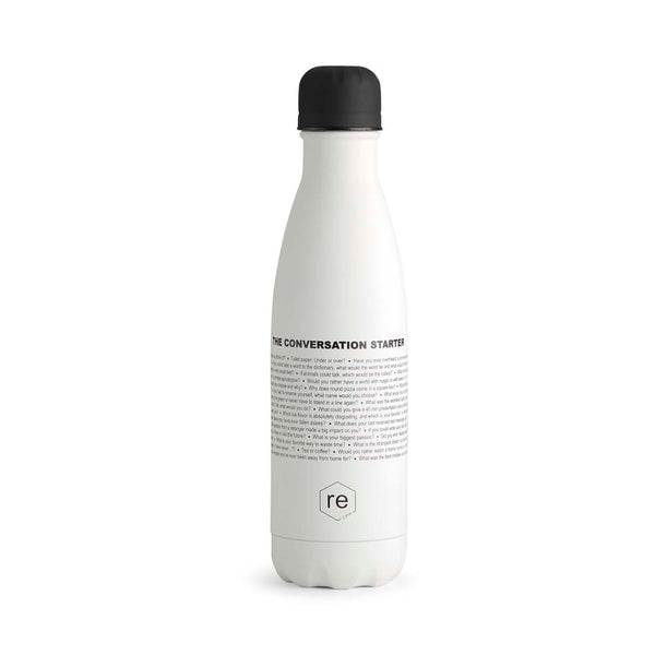 Rebottle, conversation statement, white