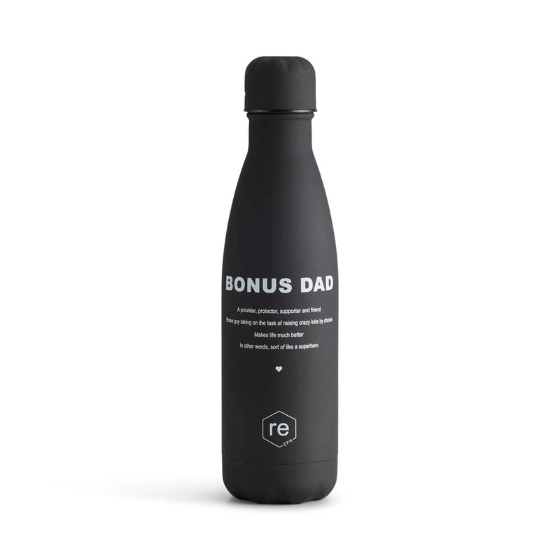 Rebottle, bonus dad statement, black