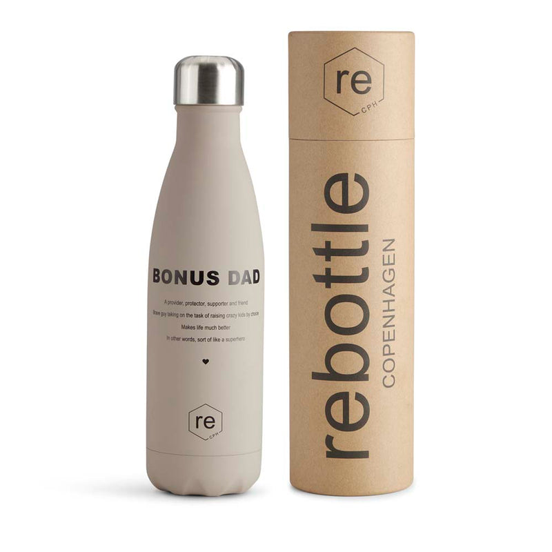 Rebottle, bonus dad statement, taupe