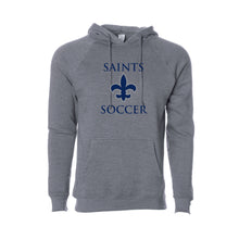 Load image into Gallery viewer, STA Soccer Unisex Raglan Hooded Sweatshirt