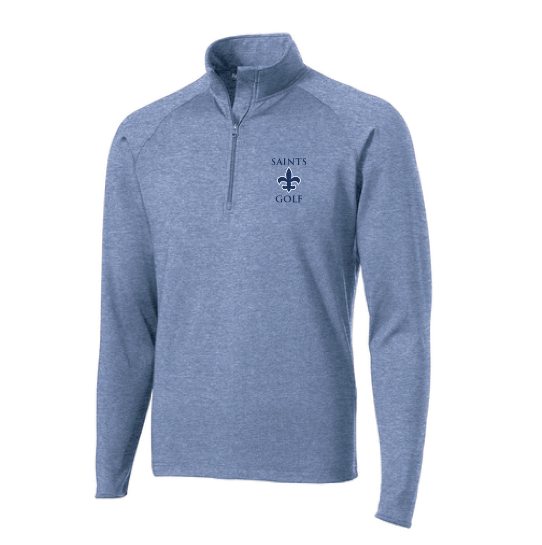 STA Golf 1/4 Zip Performance Pullover Embroidered Logo