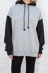 Grey With Black / Oversized Fit