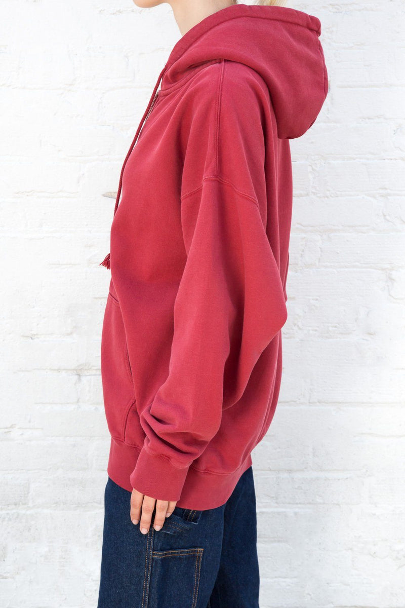 Burgundy / Oversized Fit