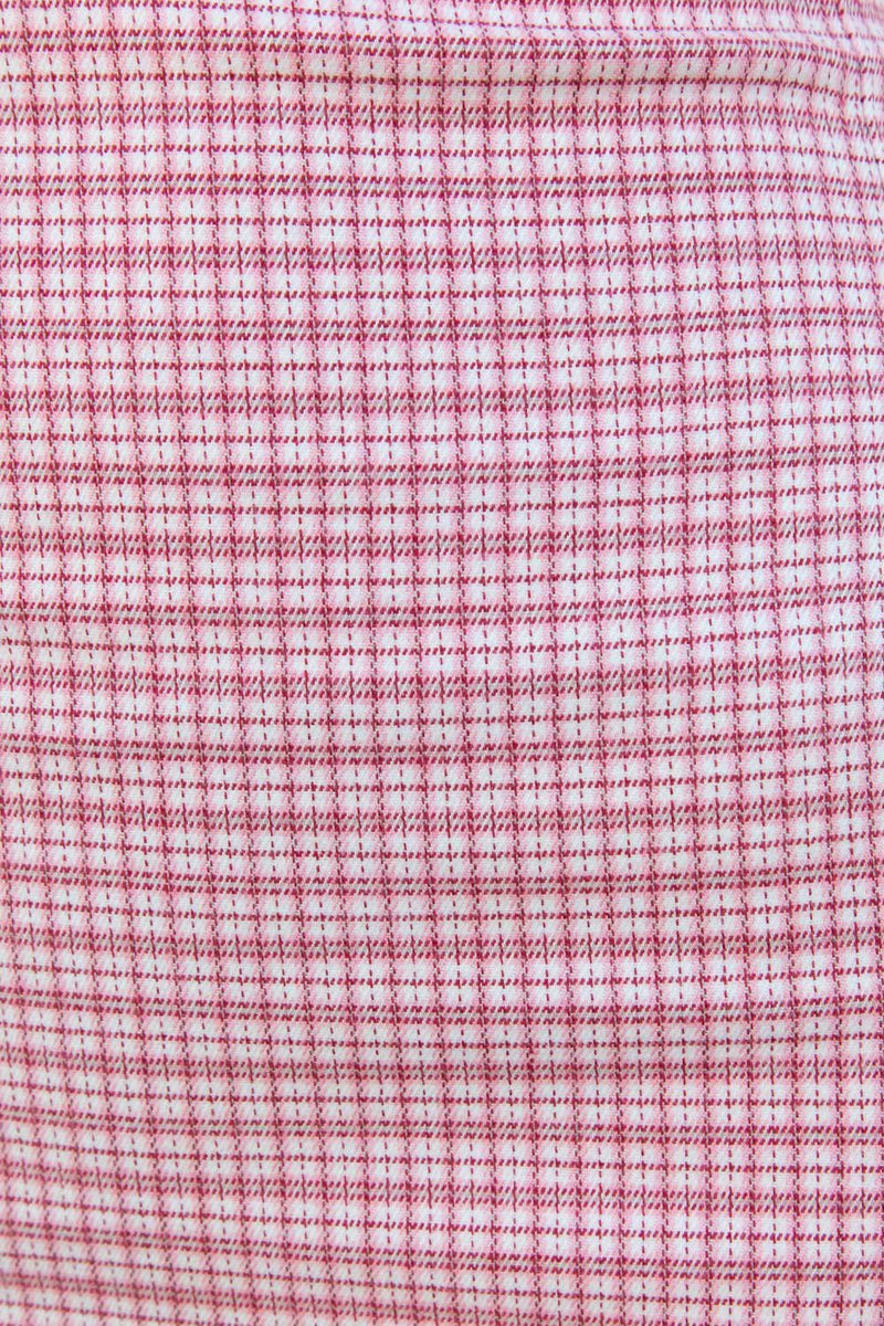Rose Pink and White Plaid / XS/S