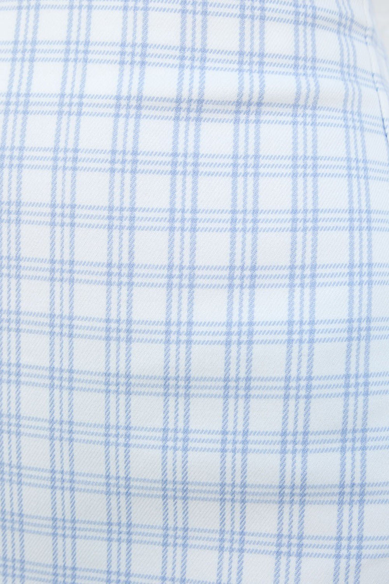 White and Light Blue Plaid / XS/S
