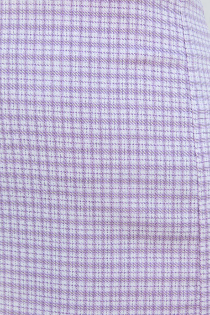 Light Purple and White Plaid / XS/S