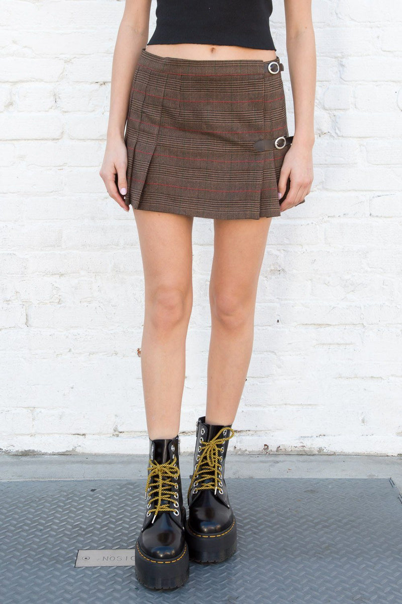 Brown and Red Plaid / XS/S