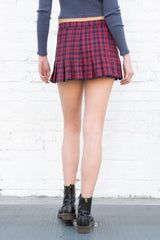 Navy Red Plaid / XS/S