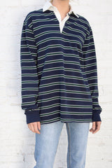 Navy White Green / Oversized Fit