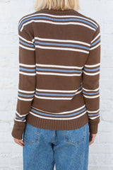 Brown With Blue And White Stripes / S/M