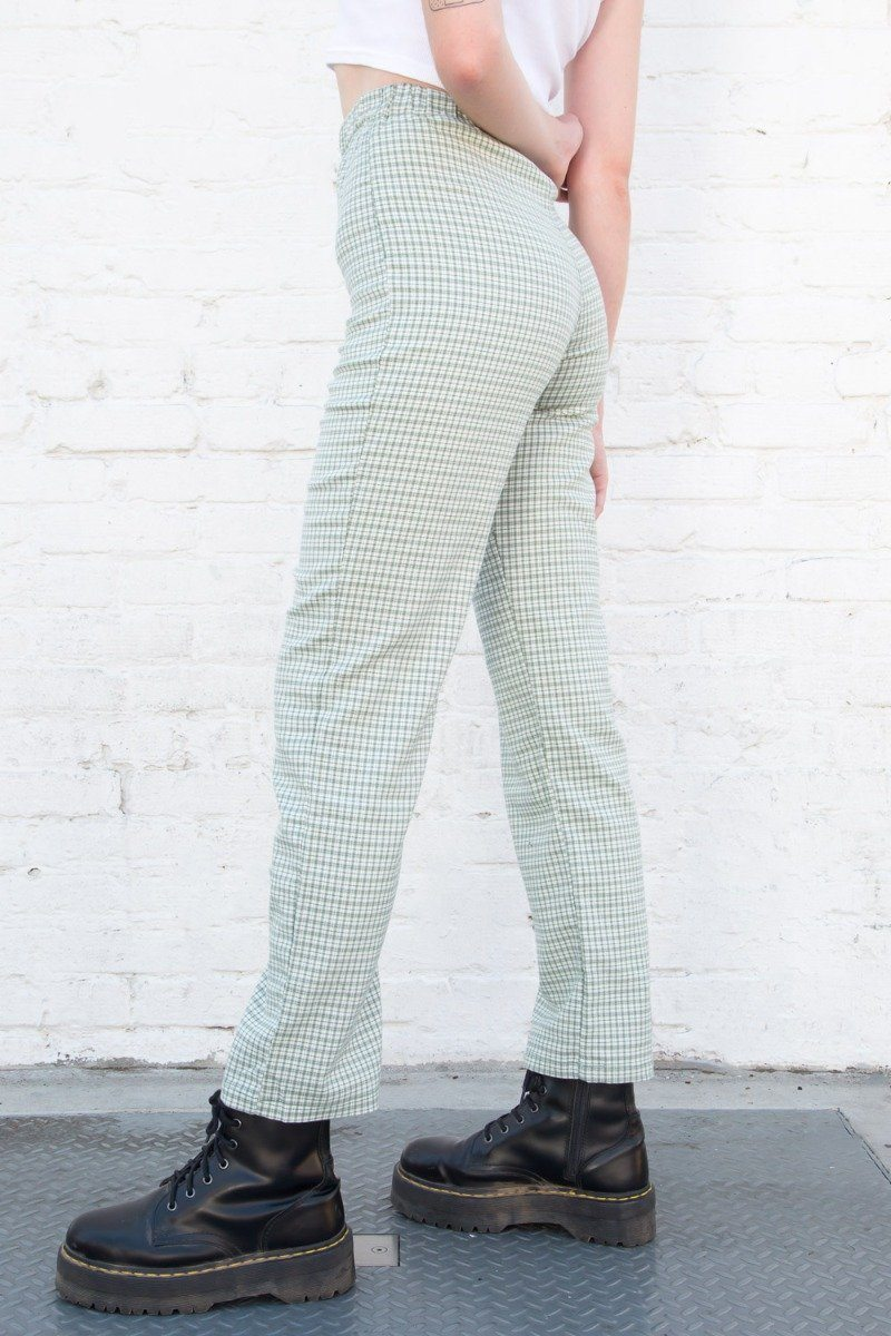 Light Green and White Plaid / S