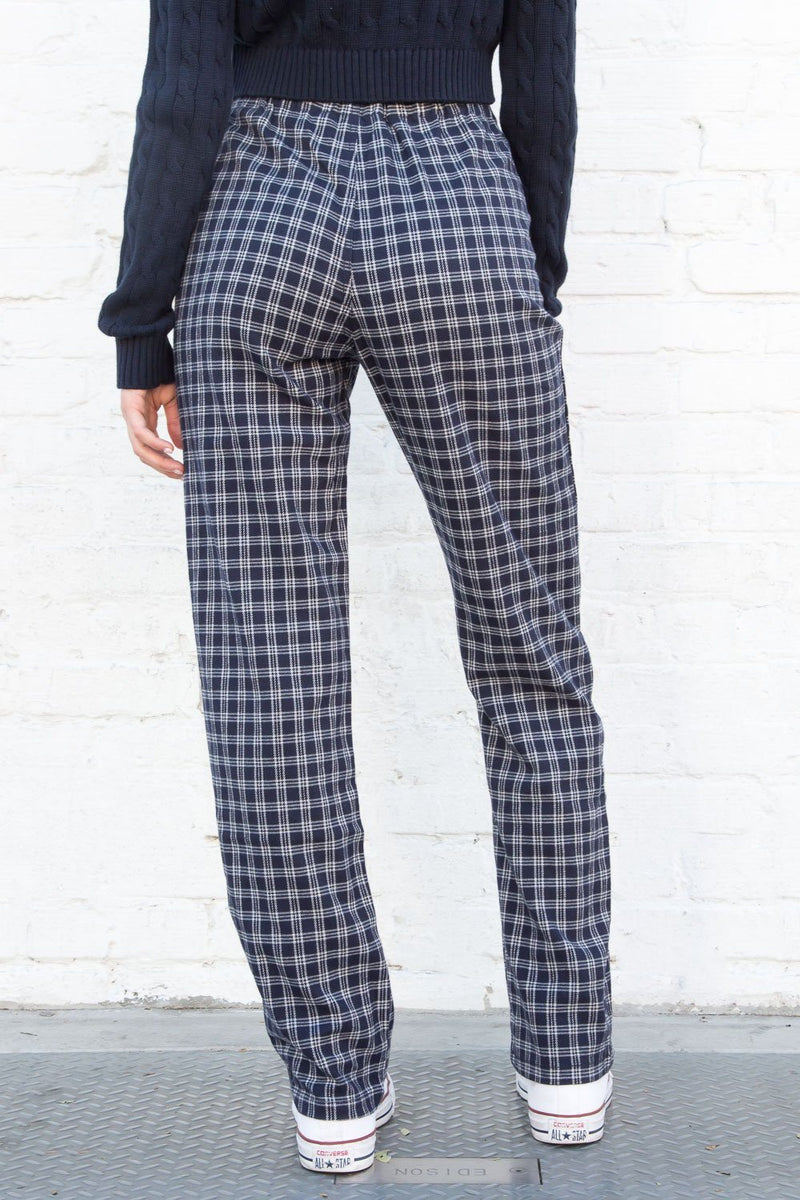 Navy Blue and White Plaid / S