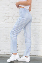 Light Blue and White Plaid / S