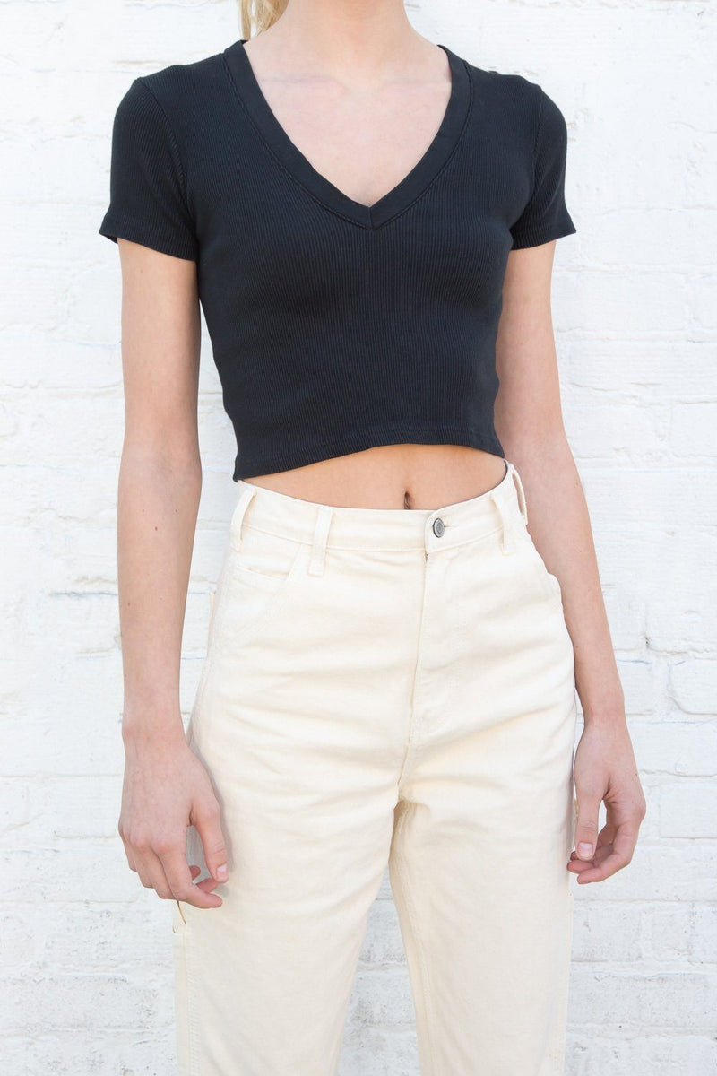 Black / Cropped Fit